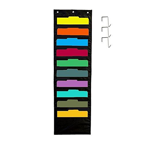 10Fächer Lagerung Pocket Chart, hängenden Wand Datei Veranstalter zuweisen, Dateien, Scrapbook und so Organisieren, auf, mit 3PCS Haken - Hängende Wand-dateien