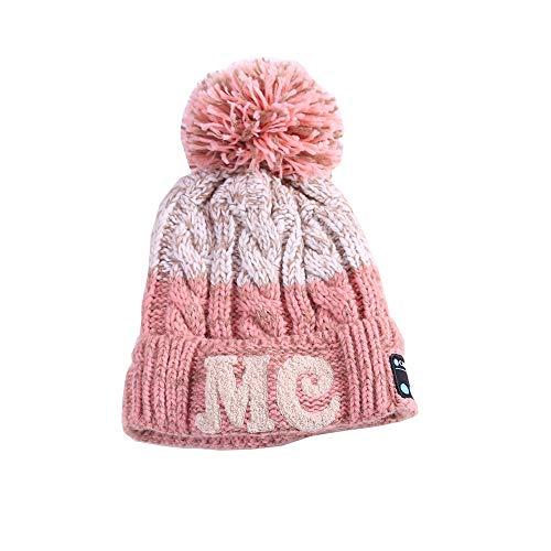 QAQ Strickmütze Winter Frau Warm Halten Bluetooth-Hut Dicker Hut Outdoor-Sportarten, Skifahren, Eislaufen, Laufen, Wandern, Radfahren,C