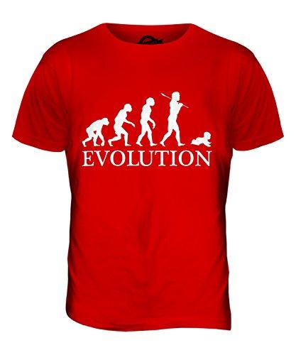 CandyMix Säugling Baby Evolution Des Menschen Herren T Shirt Rot