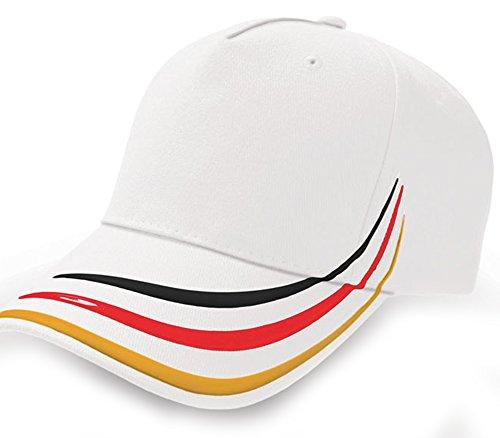 EM WM Fan Cap Europameisterschaft Fußball Mütze Hut Accessoires schwarz rot gold