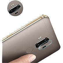 Für Huawei Mate 9 rückseitige Kamera-weiche gehärtete Glasobjektiv-Abdeckungs-Schirm-Schutz - 3pcs