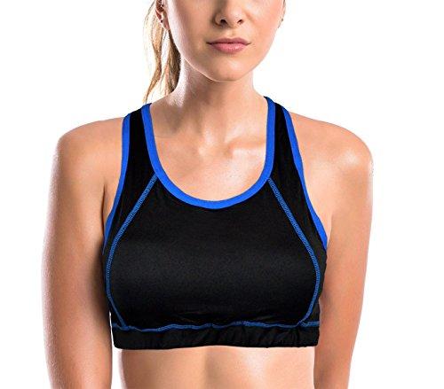 DST16112 Soutien-gorge de sport mod. VANILLA couleurs fluo avec dos nageur Bleu