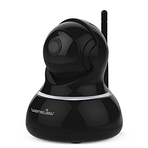 Wansview Wlan IP Sicherheits kamera, Schwenk- und Neige- WiFi IP Sicherheitskamera, Plug/ Play Überwachungskamera mit Baby Monitor Video, 2-Wege Audio und Nachtsicht Funktion Q3 (Schwarz)