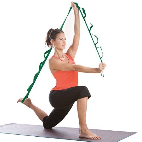 Groten Yogagurt Fitnessbänder Übungsband ausstrecken Band Mehrzweck Übungsheft Gymnastik-Eignungyoga Widerstand Bands