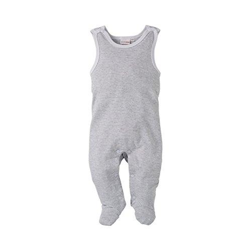 Bornino Strampler ärmellos/Basics Babybekleidung/Einteiler gestreift/Druckknöpfe/grau