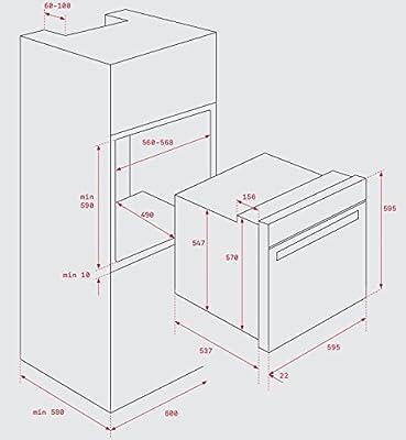 Teka HBB 435 Eléctrico 72L 2593W A Negro, Acero inoxidable - Horno (Medio, Electric oven, 72 L, 2593 W, 72 L, 1400 W)