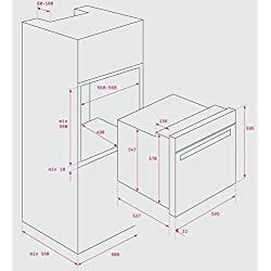 Teka HBB 435 - Horno (Medio, Horno eléctrico, 72 L, 2593 W, 72 L, 1400 W)