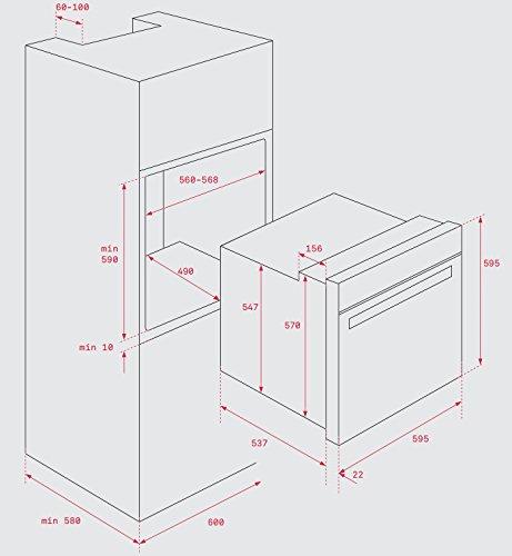 Teka HBB 435 - Horno (Medio, Horno eléctrico, 72 L, 2593 W,...