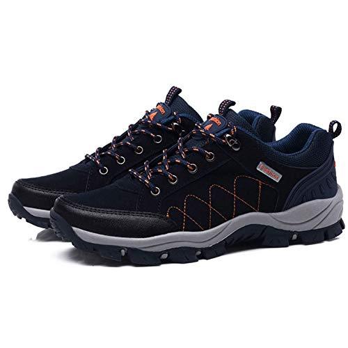 Scarpe da Corsa Fuoristrada da Uomo e da Donna Cinture da Allenamento Scarpe da Escursionismo Scarpe da Passeggio Traspiranti con Assorbimento degli Urti Antiscivolo, Dark blue-35