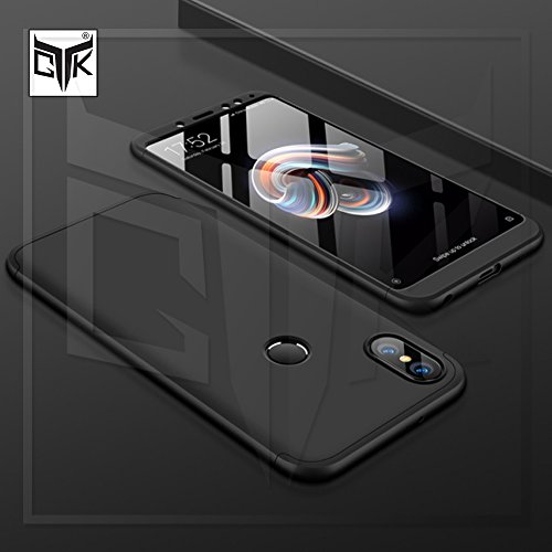 TheGiftKart Full Body 3 in 1 Slim Fit Complete 3D 360 Degree Protection Hybrid Hard Bumper Back Case Cover for Xiaomi Redmi Note 5 Pro