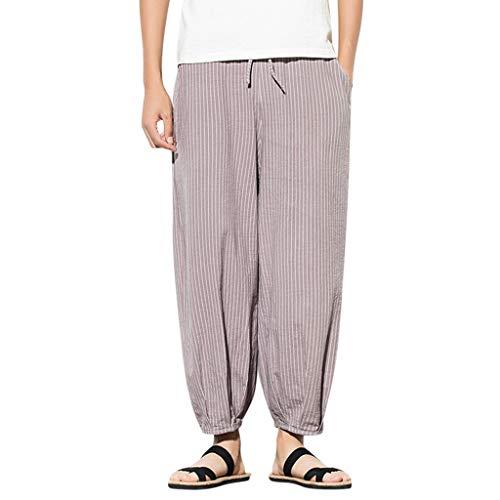 Zonary Herren Hose Basic Grau/Schwarz/Stretch Slim Fit , Herren Haremshose Baggy Pumphose Yoga Pants Männer Pumphosen Sporthosen Trainingshose Sporthose M-XXXXXL