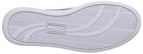 Puma Smash L, Sneakers Basses Adulte Mixte Blanc (White-Fern Green 07)