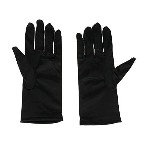 Damen Handgelenk Fingerspitzen Handschuh Elastischer Satin Brauthandschuhe Party Abendhandschuhe Kurze Handschuhe Winter Frühling Sommer
