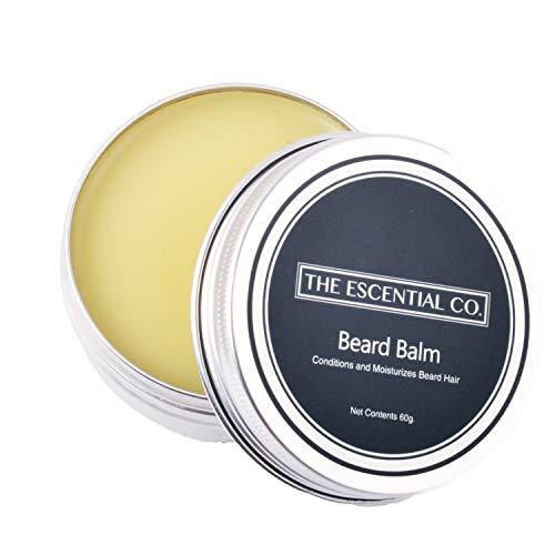Baume à barbe hydratant pour hommes 60g, à base d'huiles essentiels, accélère la croissance de barbe et sa santé, soin pour la barbe - The Escential Co.