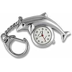 PARK LANE - Schluesselanhaenger-Uhr mit Delphin in Geschenkdose