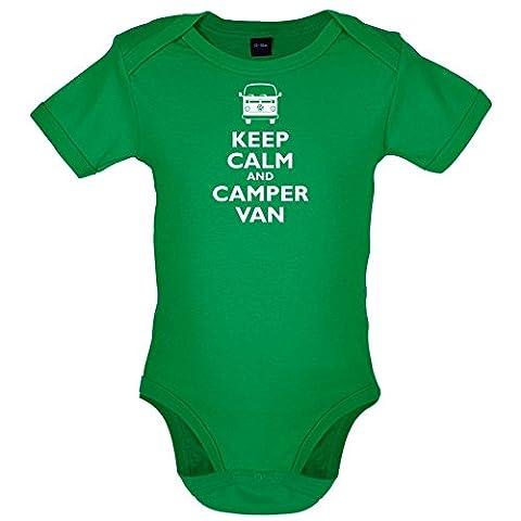 Keep Calm and Camper Van - Lustiger Baby-Body - Leuchtend