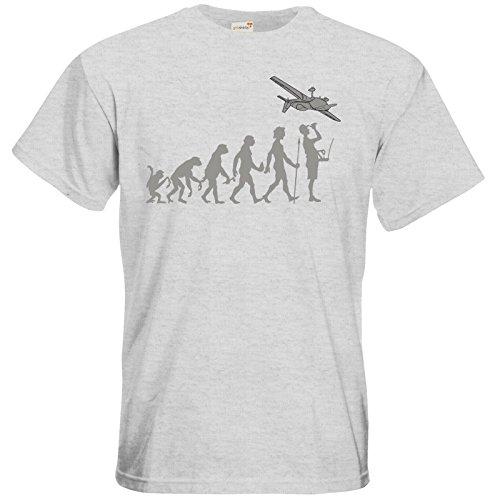 getshirts - RAHMENLOS® Geschenke - T-Shirt - Modellflieger - Evolution grey - ash S (Ash Grey-t-shirt Evolution)