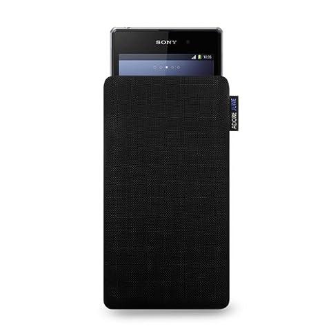 Adore June Classic Hülle für Sony Xperia Z1 Compact und Xperia Z3 Compact aus original Cordura® - Schwarz