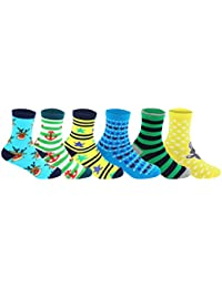 Supersox Kid's Regular Length Pack of 6 Combed Cotton Socks