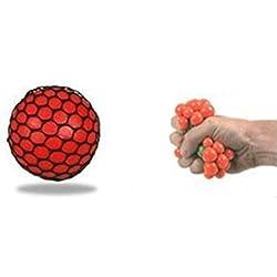 Bola de goma antiestrés con malla, efecto racimo de uvas, color aleatorio
