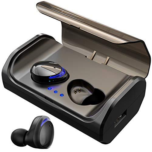 HolyHigh Bluetooth Kopfhörer Kabellos In Ear Sport Joggen Ohrhörer Bluetooth 5.0 mit 3000mAh Batterie 120 Stunden Spielzeit IPX6 Wasserdicht Mikrofon für iOS Android Samsung Huawei HTC thumbnail