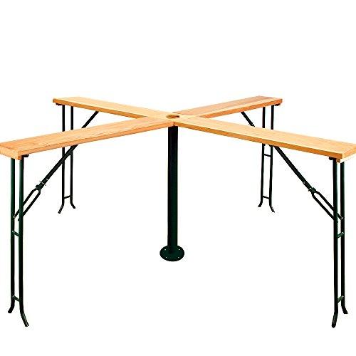 Stehtisch QUATTRO XXL Biertisch Bierzeltgarnitur Tisch klappbar 245x245x101 cm