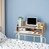 Jizhen Schreibtisch Computer Schreibtisch Schlafsaal Bett Mit Bett Faul Schreibtisch Doppelstöckige Tragbare Runde Steh Schreibtisch Notebook Ständer Lesehalter (Farbe : Ancient Oak)