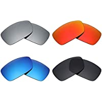 41317db245 Mryok 4 Pair Polarized Replacement Lenses for Oakley Spike Sunglass - Stealth  Black Fire Red