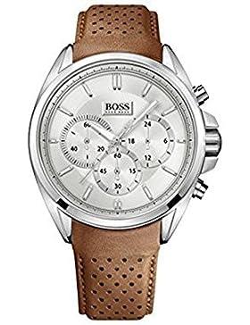 Hugo Boss Herren-Armbanduhr XL Driver Chronograph Quarz Leder 1513118