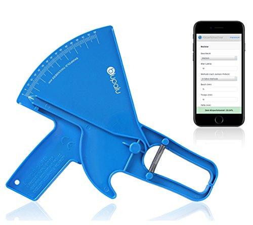 blupalu I Körperfettmessgerät I Profi Caliper Körperfettzange zum Messen von Körperfett I mit Web-App Körperfett-Rechner