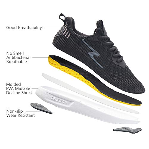 41OstiCs94L. SS500  - SelfieGo Mens Casual Mesh Walking Shoes - Fashion Athletic Sport Running Sneaker Comfortable Breathable Lightweight