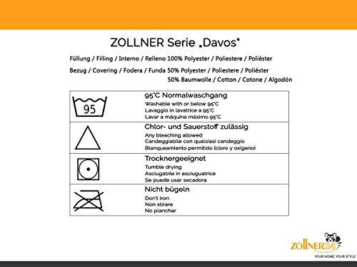"""ZOLLNER® hochwertiges kochfestes Kopfkissen 80×80 cm, Füllgewicht: ca. 840 g, mit Reißverschluss in vielen weiteren Größen erhältlich, direkt vom Hotelwäschespezialisten, Serie """"Davos"""" - 7"""