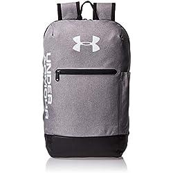 Under Armour UA Patterson Backpack Mochila, Unisex Adulto, Gris (Steel Medium Heather/Black/White 035), Talla única