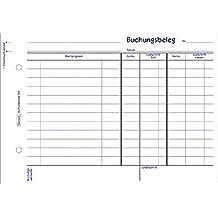 AVERY Zweckform Buchungsbeleg/308, weiß, DIN A5quer, Inh. 50 Blatt