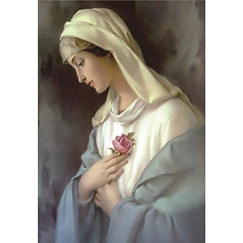 Zhen+ 5D-Diamantbild Jungfrau Maria, komplett gebohrt, Wohnzimmer Deko Wand Aufkleber Stickerei Malerei Kreuzstich DIY-Malset