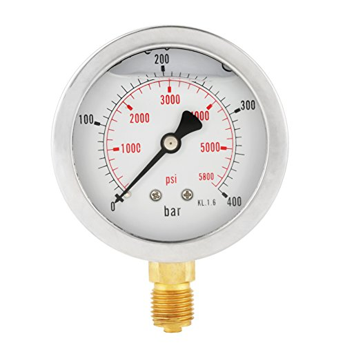 """63mm Manometer Analog Gasdruckanzeige 0-250Bar 0~3750PSI für Wasser Luft Öl Dial Instrument Basis Eintrag G 1/4"""""""