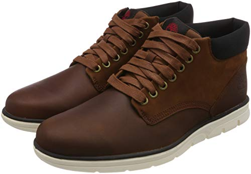 Timberland Bradstreet Leather Sensorflex, Baskets Chukka Homme, Braun (Red Brown FG),45.5 EU -