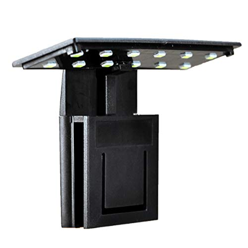 Beleuchtung für Aquarien Hohe Qualität 5 Watt Aquarium Beleuchtung 12 LED Aquarium Clamp Clip Wasserpflanze Wachsen Weiße Farbe Beleuchtung für Nano Tanks -