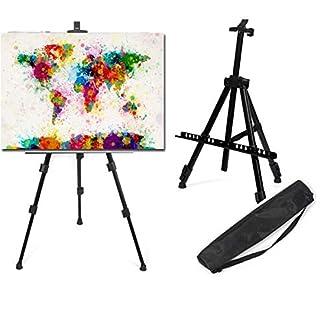 LIVIVO – Caballete telescópico con trípode y soporte para pintura o pizarra blanca