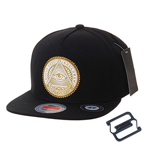 WITHMOONS Gorras de béisbol Gorra de Trucker Sombrero de Snapback Hat Illuminati Patch Hip Hop Baseball Cap AL2344 (Gold)