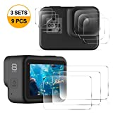 CAVN Screen Protector Compatible with GoPro HERO8 Black, 9PCS Tempered Glass Screen Protector Film Tempered Glass Lens Film Accessories for Hero 8 Action Camera