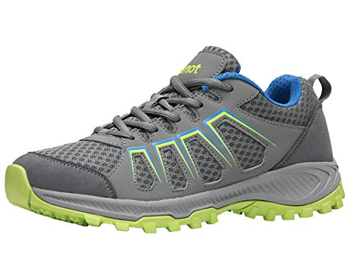 riemot Sneakers Uomo, Scarpe da Sportive, Trail Running, Trekking, Ginnastica, Corsa, Fitness Estive Casual Basse Grigio/Lime 44 EU