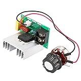 Controlador de velocidad del motor de CA, electrónico AC 0-220V 8000W Controlador de velocidad del motor de CA Regulador de voltaje de alta potencia Elemento electrónico Controlador de velocidad