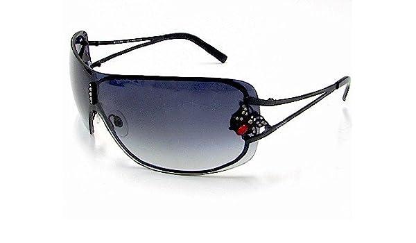 77e7121630d New Vogue Vo3608-Sb Vo-3608-Sb 352-S 8G Black Sunglasses  Amazon.co.uk   Clothing