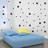 Vinyl Concept - Star Wall Stickers, Removable, Easy To Remove, Art Mural, Art Decor, Sticker Diy Deco : Silver - Small Set X 31