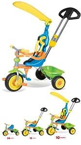 Vivo Unisex Childrens / Children / Kids / Girls / Boys Universal Trike Tricycle Bike 3 Wheel with Turning Parent Handle