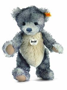 Steiff 27338 - Oso de peluche Rocky (28 cm, tejido de Alpaca), color gris importado de Alemania
