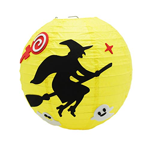 Glitter Hexe Kostüm - Kapian Halloween Deko Laterne 3D Papier Lampions Kürbis Skelett Chinesische Laternen Led Lampions für Halloween Deko Innen und Außen Party Garten Dekoration