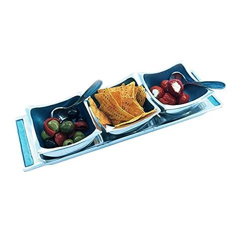Solo Artisan Lifestyle Trio de plats avec cuillères sur un plateau