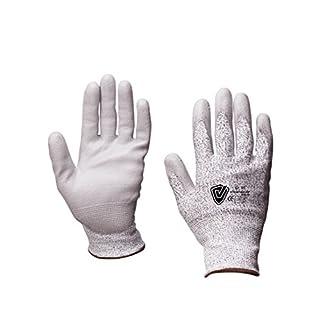 Viwanda gants anti-coupure de niveau 5, pour les travaux de découpe et montage, Dyneema/ revêtement en polyuréthanne en 388 4544, taille 9/L